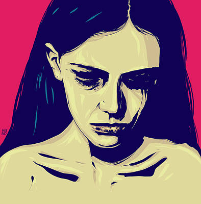 Pop Art Drawing - Anxiety by Giuseppe Cristiano