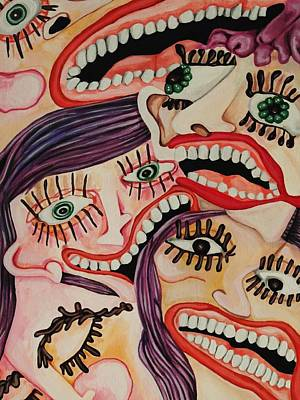Teeth Smile Painting - Anxiety by Kimberly Gifford