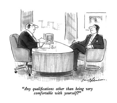 Employer Drawing - Any Qualifications Other Than by Bernard Schoenbaum