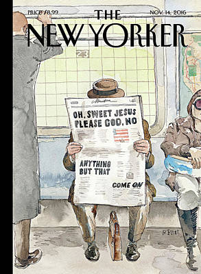 Newspaper Painting - Anything But That by Barry Blitt