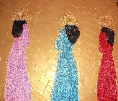 Seed Beads Painting - Ao Dai Ladies by Monica Art-Shack