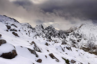 Winter Storm Photograph - Aonach Eagach Ridge by Rod McLean