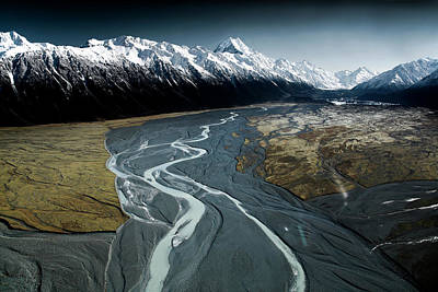 New Zealand Photograph - Aoraki/mont Cook And Tasman Lake Valley by Tristan Shu