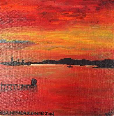 Aotearoa Painting - Aotearoa Sunset 1 by Stacey Austin