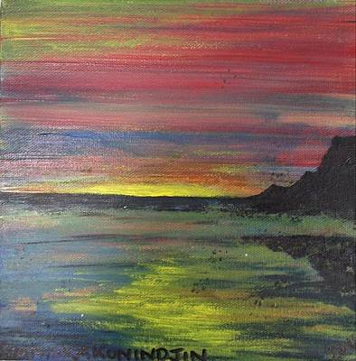 Aotearoa Painting - Aotearoa Sunset 2 by Stacey Austin