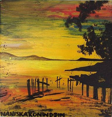 Aotearoa Painting - Aotearoa Sunset 3 by Stacey Austin
