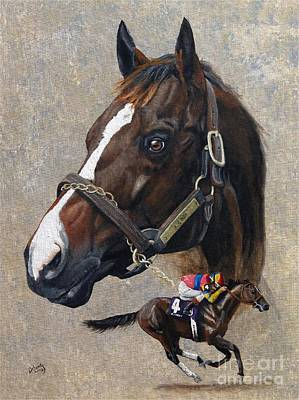 Painting - A.p. Indy by Pat DeLong