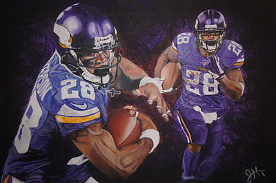 Adrian Peterson Painting - AP by Jason Turner
