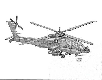 Apache Drawing - Apache by Calvert Koerber
