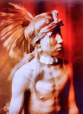 Indigenous Culture Mixed Media - Apache by Dan Sproul
