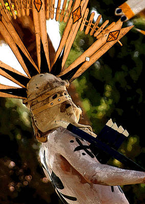 Pow Wow Photograph - Apache Dancer by Joe Kozlowski