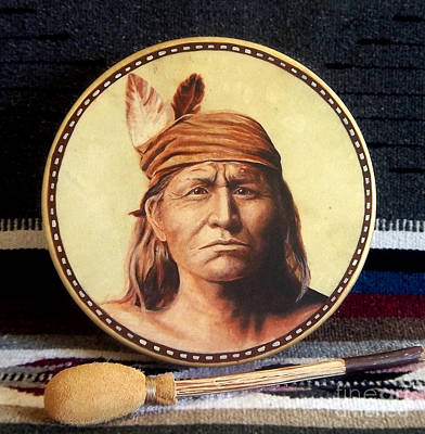 Apache Drum Print by Stu Braks