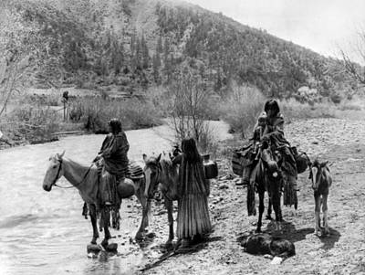 Water Jug Photograph - Apache Group, C1906 by Granger