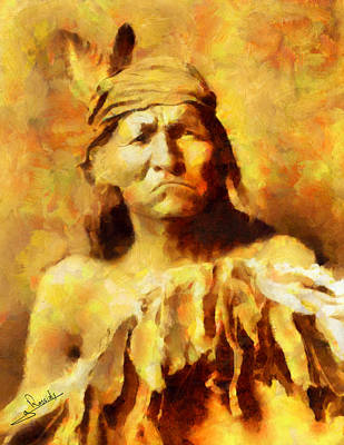 Portraits Painting - Apache Indian 2 by George Rossidis