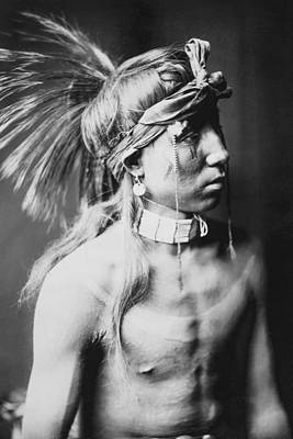 Photograph - Apache Indian Circa 1905 by Aged Pixel