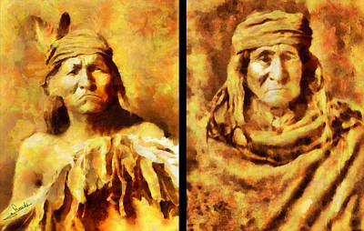 Cinema Painting - Apache Indians by George Rossidis