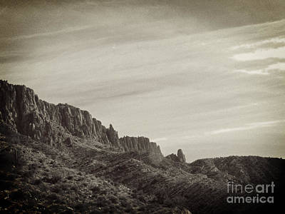 Photograph - Apache Leap Mountain by Methune Hively