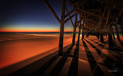Myrtle Beach Ocean Photograph - Apache Pier II by Everet Regal