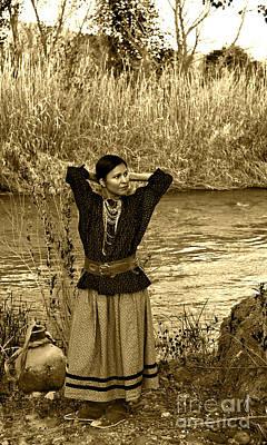 Photograph - Apache River Maiden by Jean Hildebrant