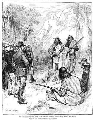 Apache Drawing - Apache Wars, 1883 by Granger