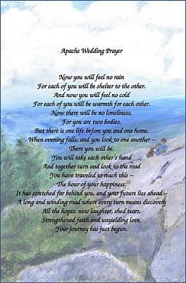 Painting - Apache Wedding Prayer by Linda Feinberg