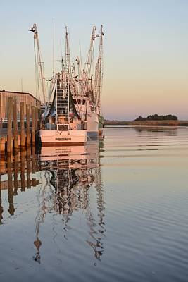 Apalachicola River Dock Print by Christian Heeb