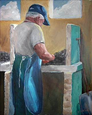 Susan L Richardson Art Painting - Apalachicola's Finest Oysters by Susan Richardson