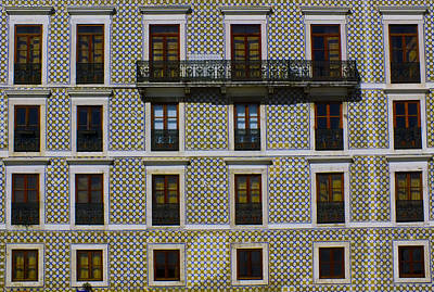 Apartment Block In Lisbon  Art Print