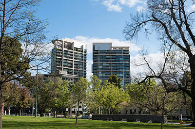 Apartment Buildings Along St. Kilda Art Print by Panoramic Images