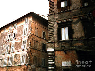 Photograph - Apartment Houses In Rome's Ancient Ghetto by Merton Allen