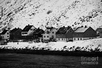 Apartment Houses Strandgata Havoysund Finnmark Norway Europe Print by Joe Fox
