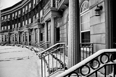 Photograph - Apartment Row In Snow by Coby Cooper