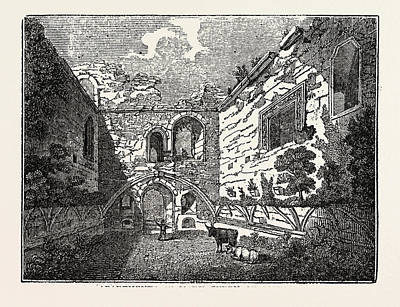 Apartments Of Mary Queen Of Scots In Tutbury Castle Art Print