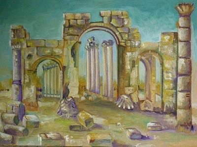 Hamas Painting - Aphamia by Layla Munla