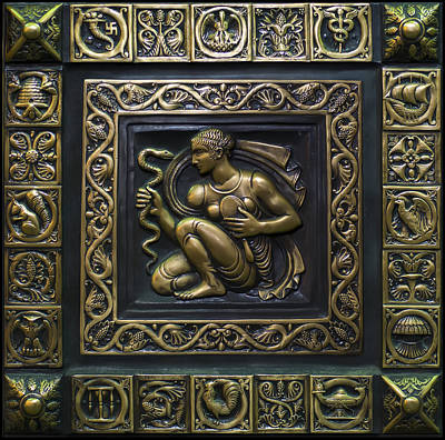 Digital Art - Aphrodite Bronze Plate by Chris Flees