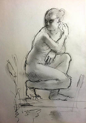 Figure Drawing Drawing - Aphrodite by H James Hoff