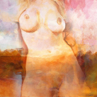 Nude Woman Torso Painting - Aphrodite by Lutz Baar