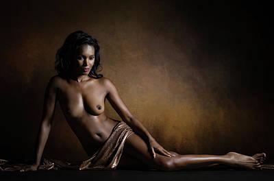 Nude Portraits Photograph - Aphrodite Melaina by Luc Stalmans