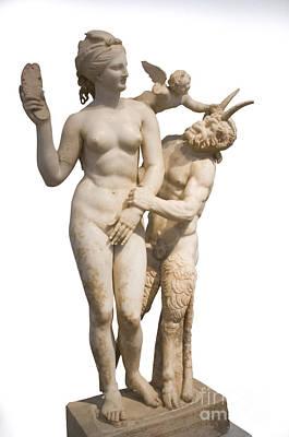 Aphrodite Pan And Eros Print by Ilan Rosen