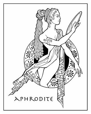 Drawing - Aphrodite by Steven Stines