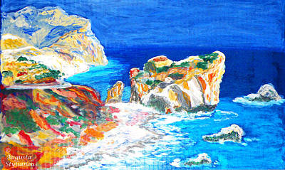Goddess Of Beauty Painting - Aphrodite's Birth Place by Augusta Stylianou