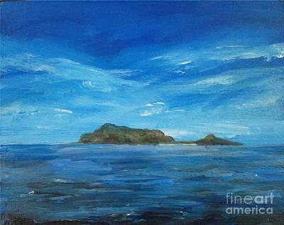 Apo Painting - Apo Island by Richard John Holden RA