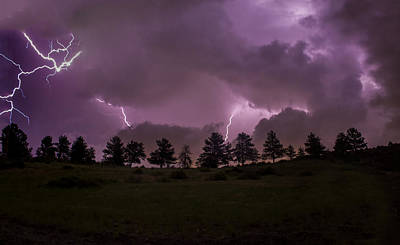 Purple Haze Photograph - Apocalyptic Lighting by Jeremy Jensen