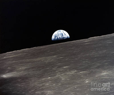 Photograph - Apollo 10 Earthrise 1969 by Granger