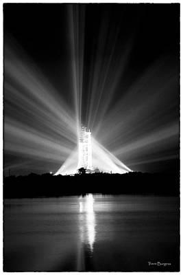 Apollo 11 In The Spotlight Art Print by Travis Burgess