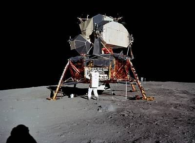 Spaceflight Photograph - Apollo 11 Lunar Module by Nasa/detlev Van Ravenswaay