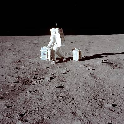 Manned Space Flight Photograph - Apollo 11 Moon Landing by Image Science And Analysis Laboratory, Nasa-johnson Space Center