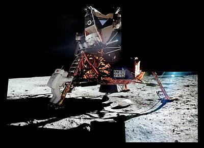 Aldrin Photograph - Apollo 11 Moon Landing by Nasa/detlev Van Ravenswaay