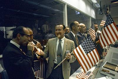 Apollo 11 Officials Celebrating, 1969 Art Print by Science Photo Library