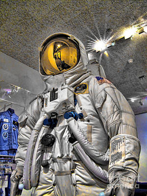 Photograph - Apollo 11 Space Suit by Jason Abando